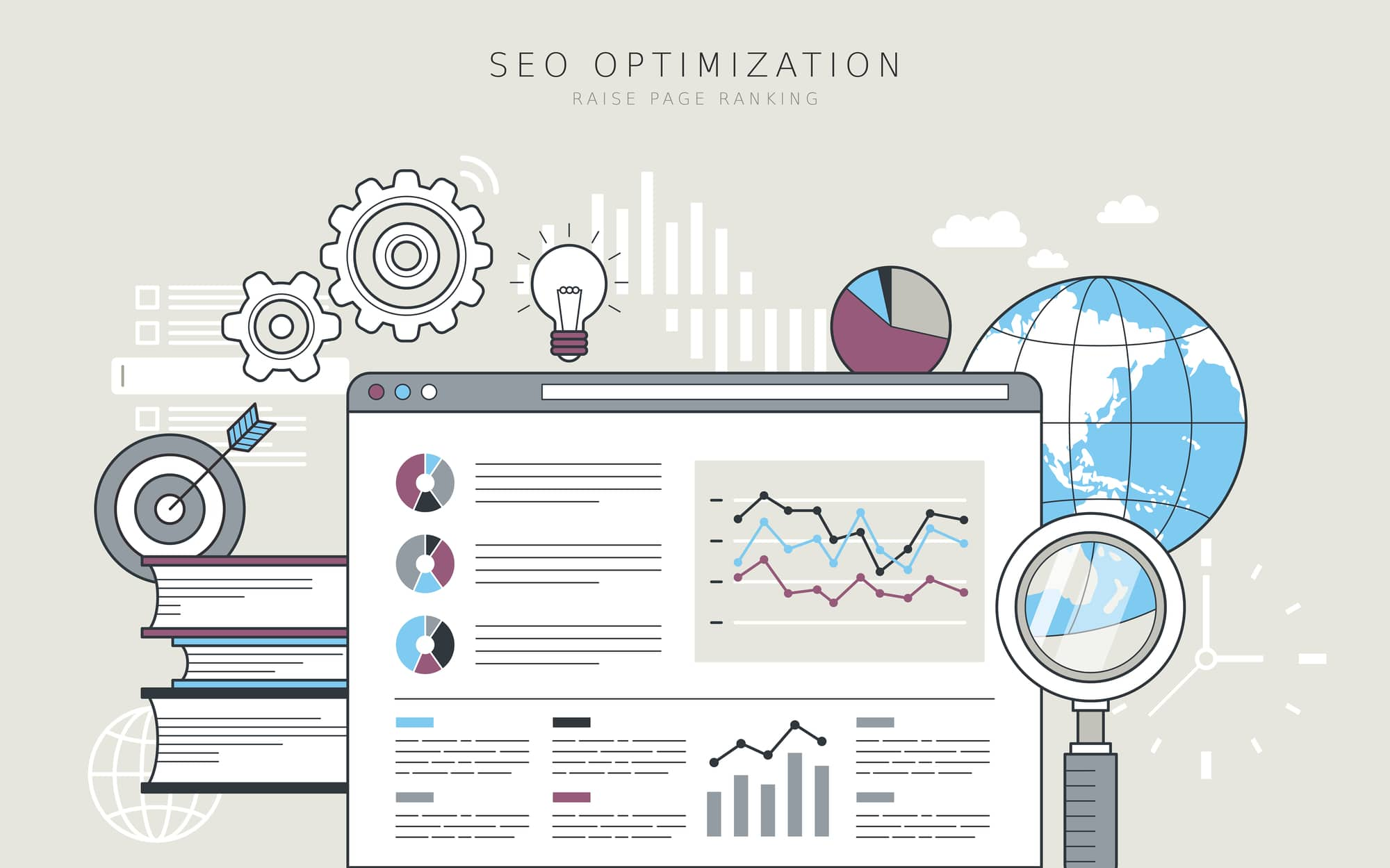 SEO optimization concept - Infintech Designs