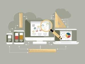 Flat design website analytics vector illustration - Big Easy SEO