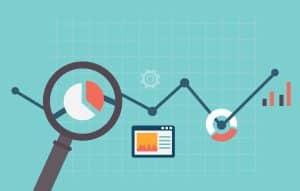 Flat vector illustration of web analytics information - Big Easy SEO