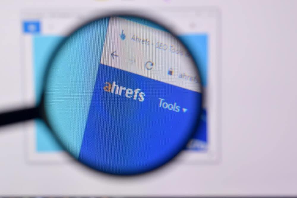 Homepage of ahrefs - Big Easy SEO
