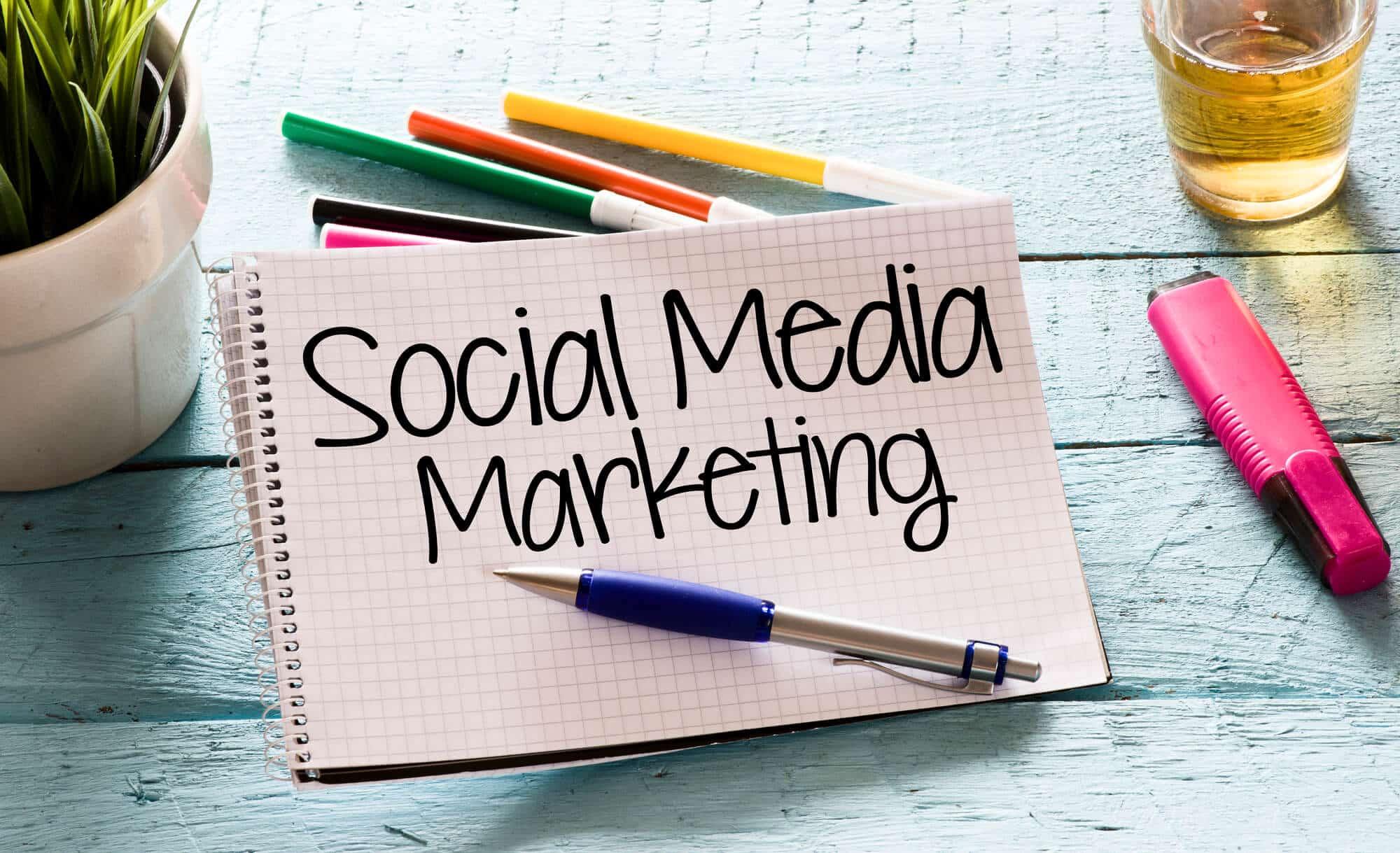 Notepad with social media marketing - Big Easy SEO